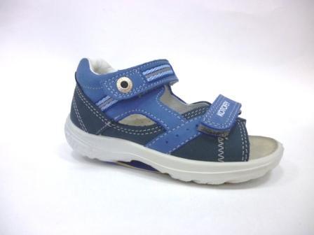 КОТОФЕЙ 322024-22 синий туфли летние малодетско-дошкольные нат. кожа, 25-28    (поступление 09.10.2019г.)  цена  2400руб.