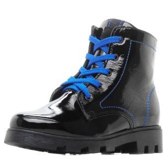 Лель м 4-1176 Ботинки школьные байка (черный/синий)  (поступление 24.08.2020г.) цена 3800руб.