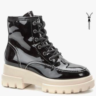 KEDDO 508276/13-01 черный иск.кожа лак детские (для девочек) ботинки (поступление 31.08.2020г.) цена 2900руб.