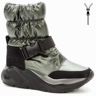 BETSY 908330/07-02 хаки/черный нейлон/иск.нубук детские (для девочек) ботинки (поступление 30.09.2020г.) цена 3650руб.