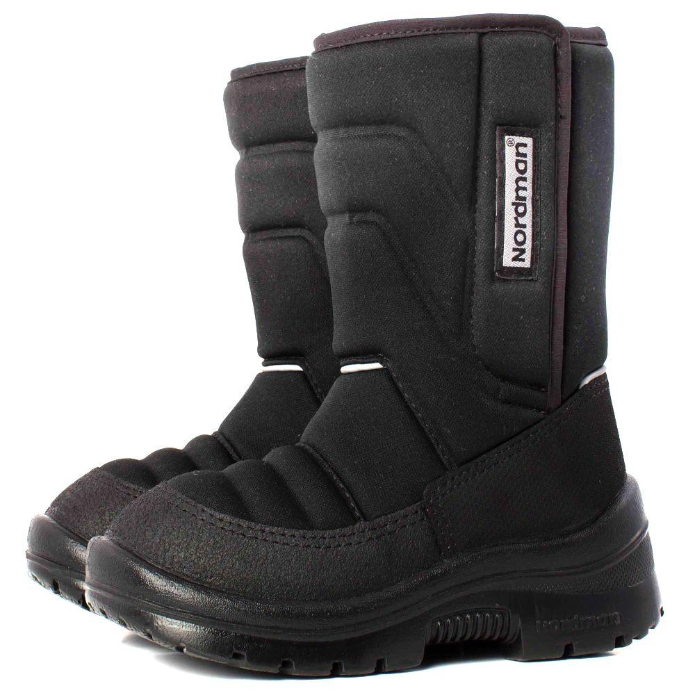 Nordman Lumi сапоги школьные, черные (32-35)  3-003-D01 черные (поступление 02.10.2020г.) цена 3700руб.