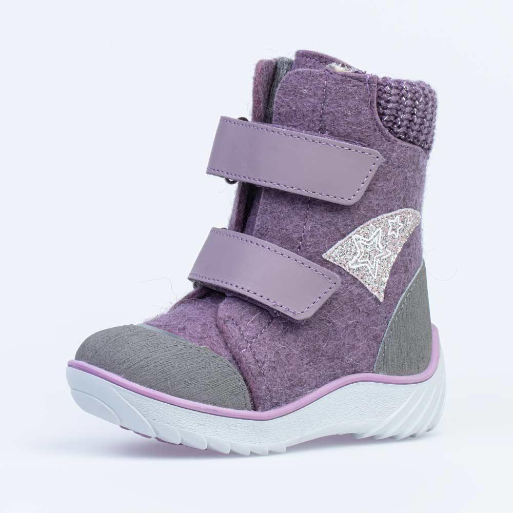 КОТОФЕЙ 357005-41 сиреневый ботинки малодетско-дошкольные войлок, 25-29 (поступление 14.10.2020г.) цена 2950руб.