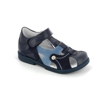 ТОТТА Туфли  открытые детские, М1091/2-кожанная подкладка, закрытый носок; 2,12,43 (1091/2-2,12,43 (синий/голубой) (поступление 15.10.2020г.) цена 2400руб.