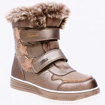 KAPIKA Ботинки текстиль  р.31-35  43409 (бронзовый) (поступление 03.11.2020г.) цена 3200руб.