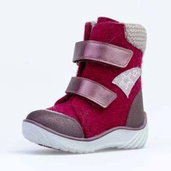 КОТОФЕЙ 557004-42 бордовый ботинки дошкольно-школьные Войлок, 30-32  (поступление 06.11.2020г.) цена 3250руб.