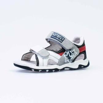 КОТОФЕЙ 324005-25 бел-син туфли летние малодетско-дошкольные комбинирован. (поступление 01.04.2021г.) цена 2080руб.