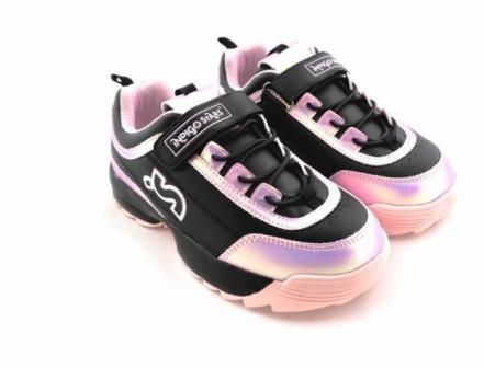 """П/ботинки детские TM""""INDIGO KIDS"""" размеры 30-37 артикул 95-006C/8 (черный/розовый) (поступление 05.04.2021г.) цена 2300руб."""