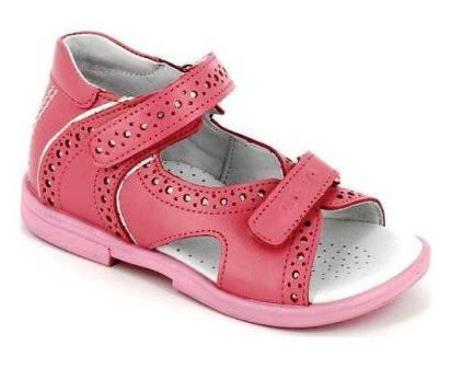 ТОТТА Туфли открытые детские, М10216/2-кожанная подкладка 10216/2-117,022 (пион/серебро) (поступление 23.04.2021г.) цена 2550руб.