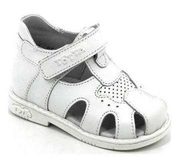 ТОТТА Туфли открытые малодетские, М078/1-кожанная подкладка, арт. 078/1-99 (белый) (поступление 07.05.2021г.) цена 2450руб.