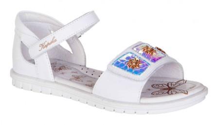 KAPIKA Туфли летние р.32-35  33585-1 (белый) (поступление 31.05.2021г.) цена 2850руб.