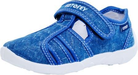 КОТОФЕЙ 421025-13 синий туфли летние дошкольные текстиль (поступление 18.06.2021г.) цена 990руб.