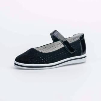 КОТОФЕЙ 532224-24 черный туфли дошкольно-школьные нат. кожа, 30-35 (поступление 19.07.2021г.) цена 3050руб.