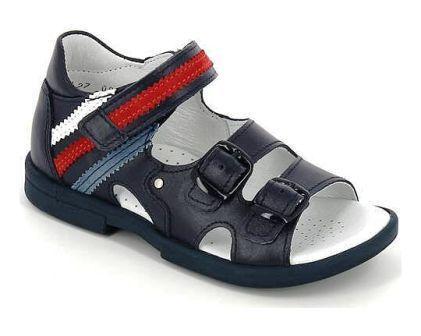 ТОТТА Туфли открытые детские, М1082-кожаная подкладка, 1082-2,46,99,43 (синий/белый/красный) (поступление 19.08.2021г.) цена 2490руб.