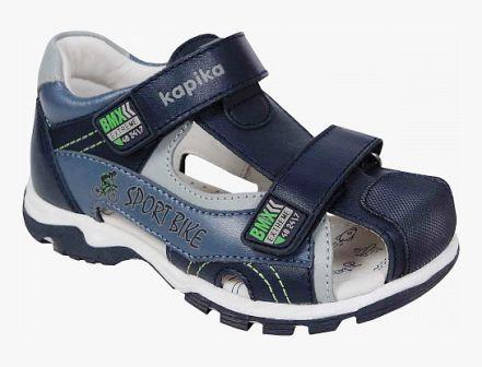 KAPIKA Туфли летние (синий) р.25-29 артикул  32642к-2 (поступление 06.09.2021г.) цена 3050руб.