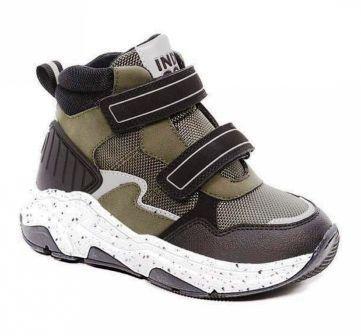 INDIGO KIDS 55-0016A/12 Ботинки детские (хаки / чёрный, р.29-35) (поступление 11.09.2021г.) цена 2600руб.