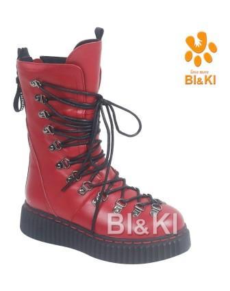 BI&KI Зима A-B00913-Y Сапоги р.33-38 Красный (поступление 30.09.2021г.) цена 4500руб.
