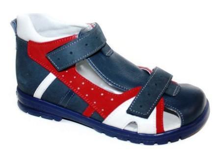 ТОТТА Туфли открытые дошкольные ,МЕД 1130-1-кожаная подкладка, 1130-1-3,13,46,99 (джинс) (поступление 28.07.2021г.) цена 2800руб.