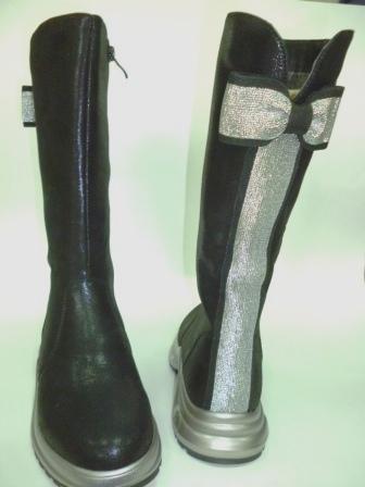 BI&KI A-B004-85-A Сапоги девоч.33-38 Чёрный   (поступление 20.08.2019г.)  цена  2550руб.
