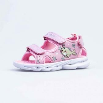 КОТОФЕЙ 124016-11 розовый туфли пляжные ясельно-малодетские комбинирован., р.21-24 (поступление 24.05.2021г.) цена 1700руб.