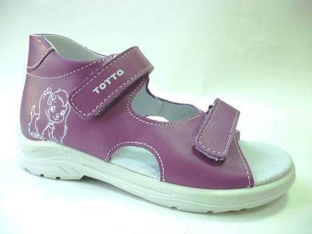 ТОТТО Туфли  открытые детские, М1144-кожанная подкладка, открытый носок; 800 (сирень)     (поступление 25.02.2020г.)  цена  1380руб.