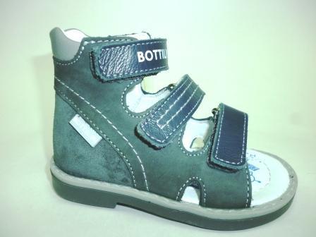 Bottilini SO-157(10) Сандалии цвет т.серый (р.22-25) (поступление 12.03.2020г.)  цена  2250руб.