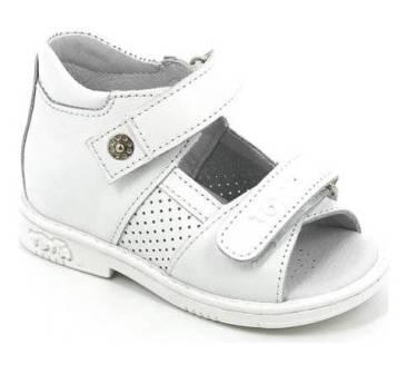 ТОТТА Туфли  открытые малодетские, 081/1-кожанная подкладка, открытый носок  081/1-КП-99 (белый) (поступление 06.05.2020г.)  цена  2080руб.