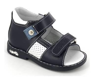 ТОТТА Туфли  открытые малодетские, М081/1-кожанная подкладка, открытый носок; 2,99 (м081/1-КП-2,99 джинс/белый) (поступление 25.05.2020г.)  цена  2080руб.