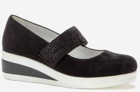 BETSY Т908309/03-03 черный иск.замша детские (для девочек) туфли (поступление 14.08.2020г.) цена 1950руб.