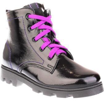 Лель м 4-1176 Ботинки школьные байка (черный/фиолетовый) (поступление 24.08.2020г.) цена 3800руб.