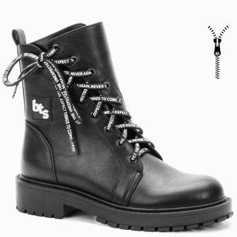 BETSY 908360/03-01 черный иск.кожа детские (для девочек) ботинки (поступление 31.08.2020г.) цена 3000руб.