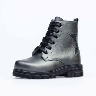 КОТОФЕЙ  552220-32 серый ботинки дошкольно-школьные Нат. кожа, 30-35 (поступление 18.09.2020г.) цена 3400руб.