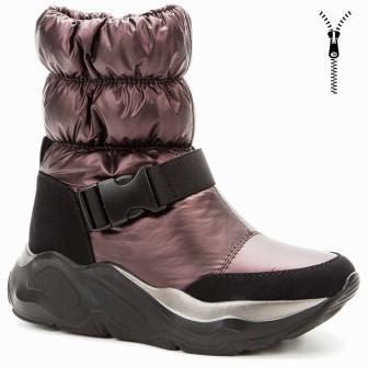 BETSY 908330/07-04 т.бордовый/черный нейлон/иск.кожа детские (для девочек) ботинки (поступление 30.09.2020г.) цена 3650руб.