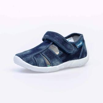 КОТОФЕЙ 421044-15 синий туфли летние дошкольные текстиль, 26-31 (поступление 05.03.2021г.) цена 920руб.