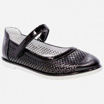 KAPIKA Туфли, 29-36  арт. 23628п-1 (черный) (поступление 21.07.2021г.) цена 2150руб.