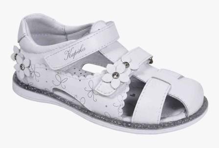 KAPIKA Туфли летние (белый) р.28-33 артикул  32697-2 (поступление 06.09.2021г.) цена 2990руб.