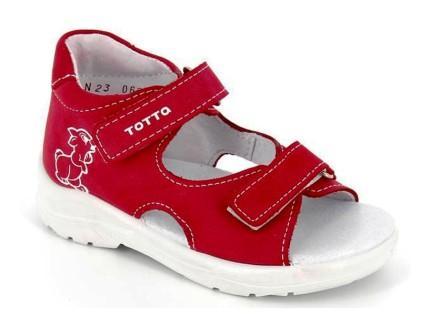 ТОТТА Туфли  открытые детские, 1144-кожаная подкладка,  1144-86 (фуксия) (поступление 16.09.2021г.) цена 1890руб.