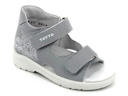 ТОТТА Туфли  открытые малодетские, 11/4-кожанная подкладка  11/4-811 (серый св.) (поступление 12.03.2021г.) цена 1590руб.