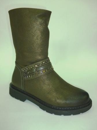 BI&KI  A-B004-80-E Ботинки девоч.33-38 Зеленый  (поступление 20.08.2019г.)  цена  2450руб.