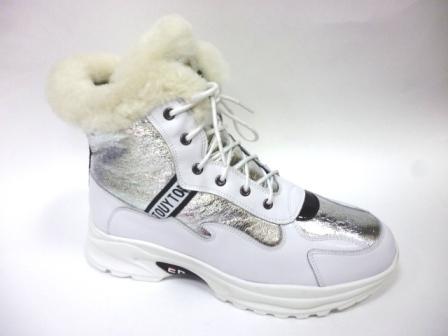 BI&KI  A-B004-66-D Ботинки девоч.34-39 Белый  (поступление 30.09.2019г.)  цена  3600руб.