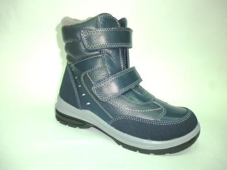 КОТОФЕЙ 652097-51 синий ботинки школьные нат. кожа, 32-35  (поступление 25.10.2019г.)  цена  3900руб.