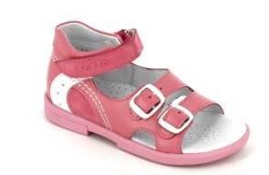 ТОТТА  Туфли открытые детские, 10212/2-кожанная подкладка, открытый носок  10212/2-КП-87,99,117 (пион/белый) (поступление 06.05.2020г.)  цена  2300руб.