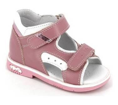 ТОТТА Туфли  открытые малодетские, М0217/1-кожанная подкладка, открытый носок;  0217/1-кп-99,217,537 (белый/розовый) (поступление 23.07.2020г.) цена 2100руб.