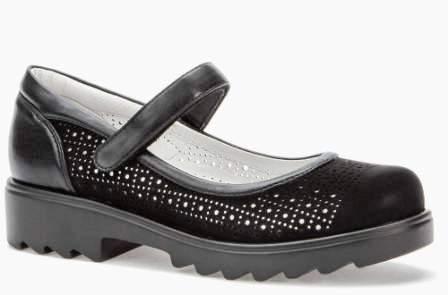 BETSY  908311/01-03 черный иск.нубук/иск.кожа детские (для девочек) туфли (поступление 14.08.2020г.) цена 1950руб.
