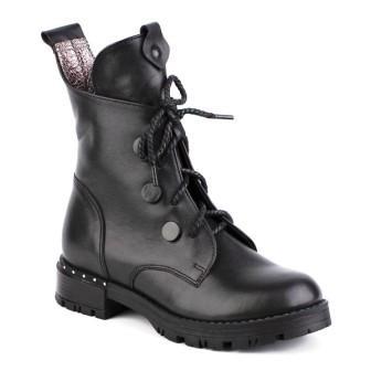Shagovita Ботинки для девочки черный 20СМФ 32-37 Девочка  65194Б черный (поступление 19.08.2020г.) цена 3600руб.