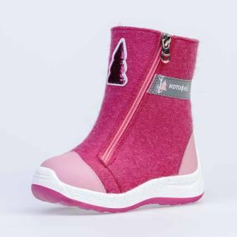 КОТОФЕЙ 367126-43 розовый сапожки малодетско-дошкольные войлок, 25-29 (поступление 25.09.2020г.) цена 2950руб.