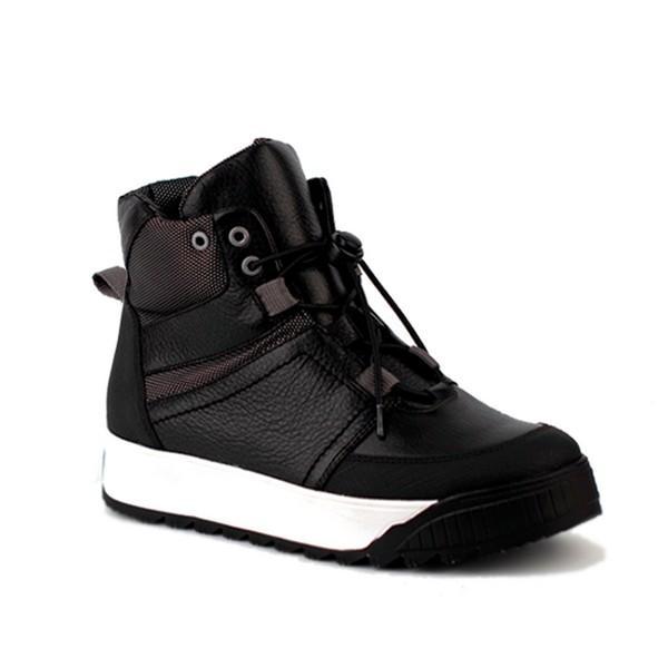 Shagovita Ботинки для мальчика черно-серый 20СМФ38-42 Мальчик  55296ш-1 черно-серый (поступление 02.10.2020г.) цена 4990руб.