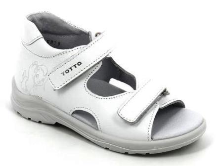 ТОТТА Туфли  открытые малодетские, м11/4-кожанная подкладка, открытый носок (809 белый)  (11/4-809 белый) (поступление 15.10.2020г.) цена 1400руб.