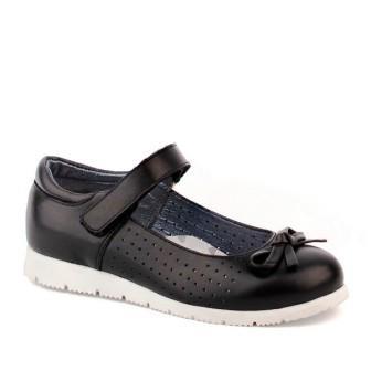 Shagovita  63282 Туфли для девочки 21СМФ черный (32-37) (поступление 21.07.2021г.) цена 3200руб.