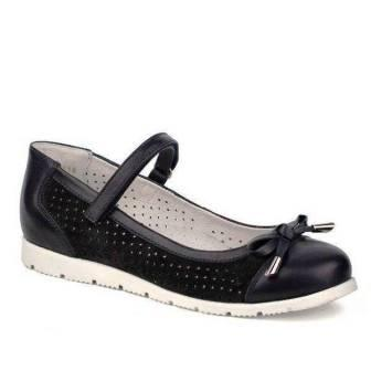 Shagovita Туфли для девочки 19СМФ р.38-39, артикул 63224-1 темно-синий (поступление 27.08.2021г.) цена 2990руб.