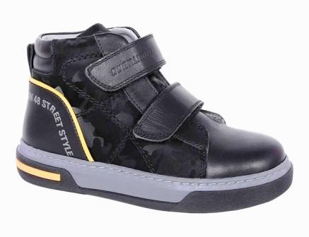 KAPIKA Ботинки (черный) р.28-32 артикул  52408ут-1 (поступление 06.09.2021г.) цена 3800руб.